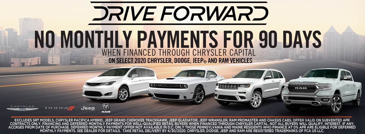 NO MONTHLY PAYMENTS FOR 90 DAYS